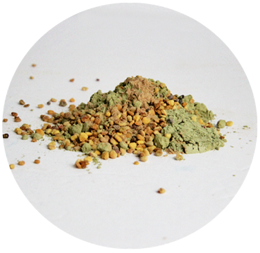 Mound of greenish powder-Sunn Moon Energizer